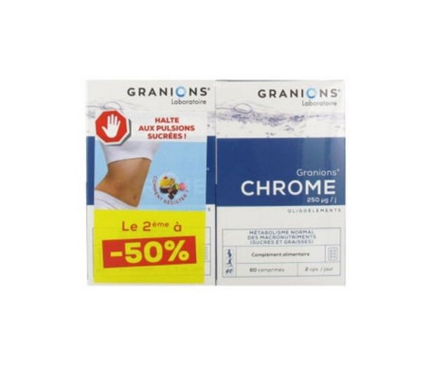 Oferta de Granions De Chrome 250µg 2x60comp por 18,02€