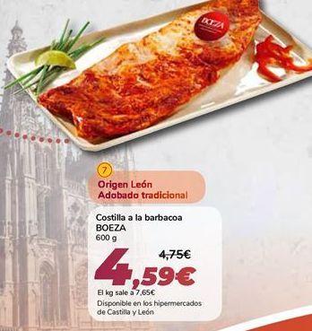 Oferta de Costilla a la barbacoa BOEZA por 4,59€
