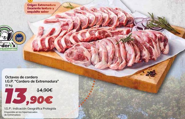 Oferta de Octavos de cordero I.G.P. Cordero de Extremadura  por 13,9€