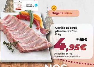 Oferta de Costilla de cerdo plancha COREN  por 4,95€