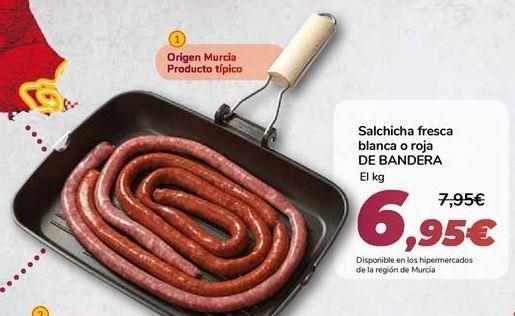Oferta de Salchicha fresca blanca o roja DE BANDERA por 6,95€