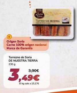 Oferta de Torrezno de Soria DE NUESTRA TIERRA por 3,49€