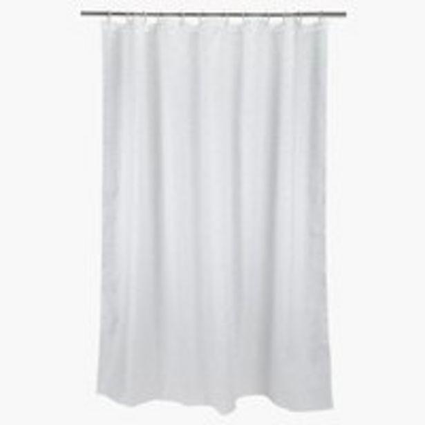 Oferta de Cortina ducha HAGBY 180x200 blanco por 7,5€