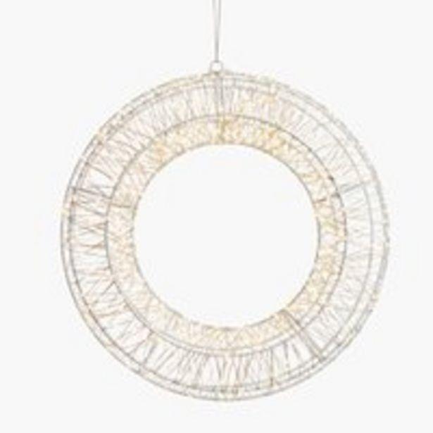Oferta de Corona SKRIFTSTEN Ø36 cm con LED por 44,99€