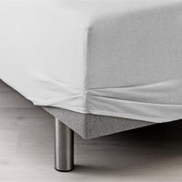 Oferta de Sábana ajust Jersey 90x200x40cm blanco por 6€