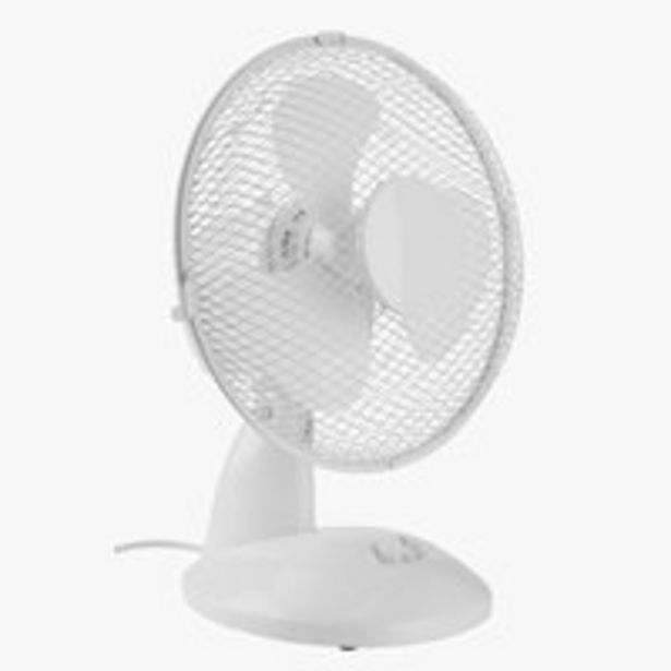 Oferta de Ventilador de mesa JERPE Ø23xA37 blanco por 10€