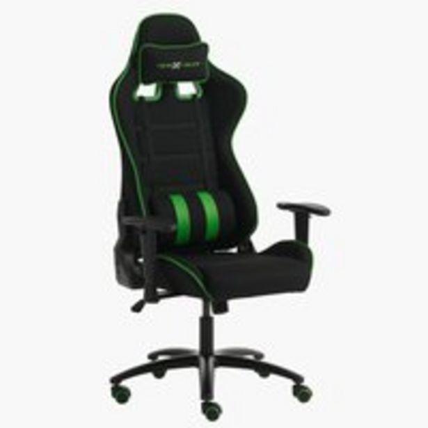 Oferta de Silla gaming LAMDRUP negro/verde por 229€