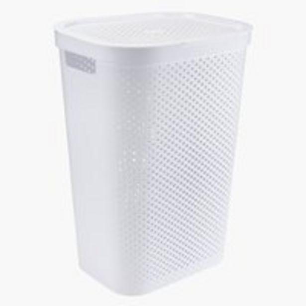 Oferta de Cesta para ropa INFINITY plástico blanco por 16,99€