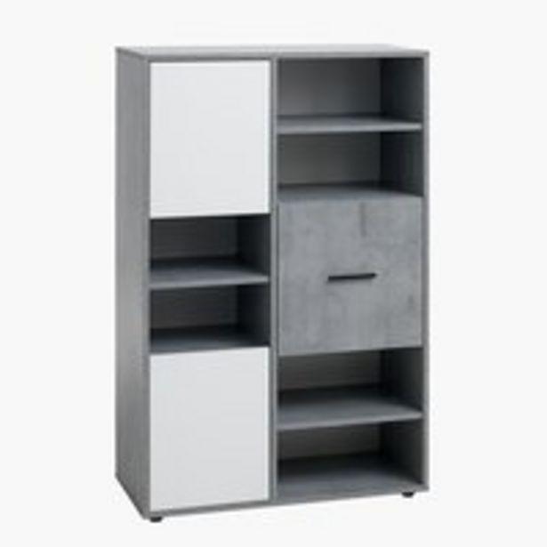 Oferta de Librería BILLUND 3 puert blanco/hormigón por 159€