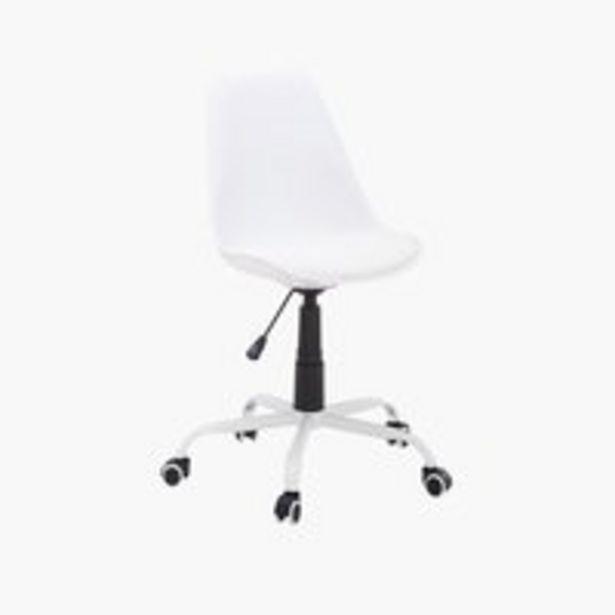 Oferta de Silla de oficina BLOKHUS blanco por 45€