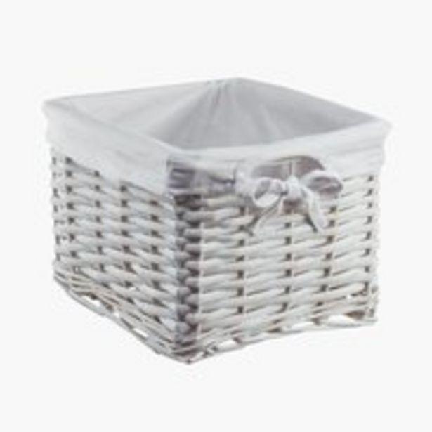 Oferta de Cesta JANA A25xL20xA16 cm blanco por 9,99€