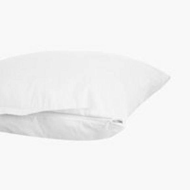Oferta de Funda almohada satén 45x110 blanco por 2,5€