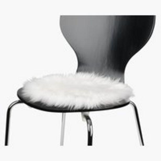 Oferta de Cojín asiento TAKS Ø34 blanco crudo por 5€