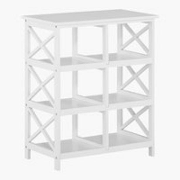 Oferta de Estantería DINA 6 estantes blanco por 64,99€