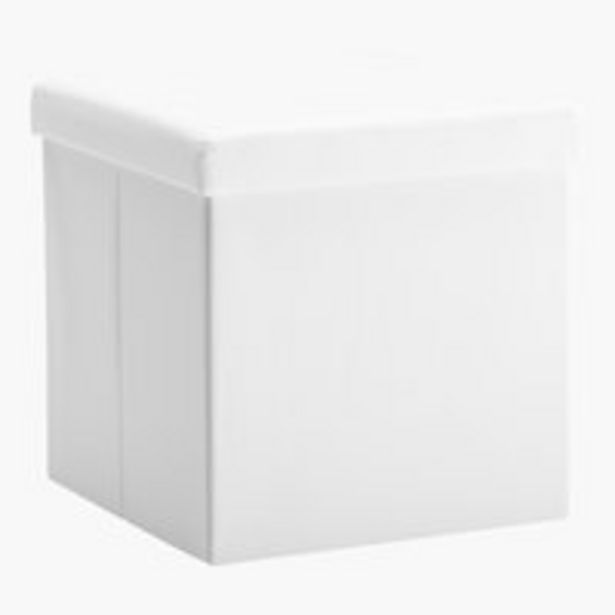 Oferta de Puf LADELUND 40x40 con almacenaje blanco por 15€