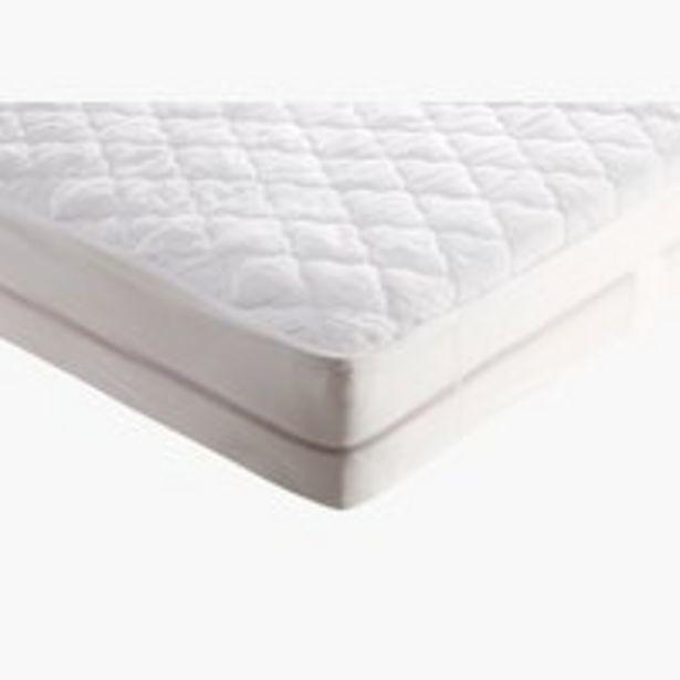 Oferta de Protector colchón 135x190 cm blanco por 25€