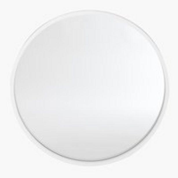 Oferta de Espejo SALLERUP Ø55 blanco por 25€
