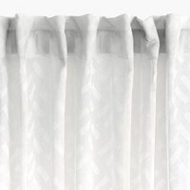 Oferta de Cortina SULA 1x140x300 blanco por 10€