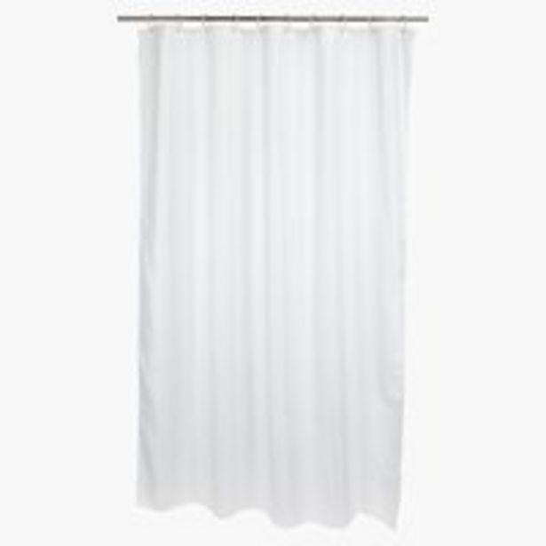 Oferta de Cortina ducha VISKAFORS 180x200 blanco por 12,5€