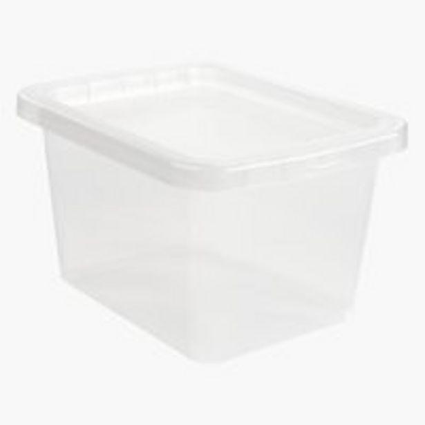 Oferta de Caja BASIC BOX 9L con tapa transparente por 3,5€