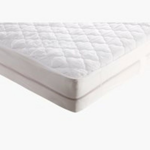 Oferta de Protector colchón 150x190 cm blanco por 27,5€