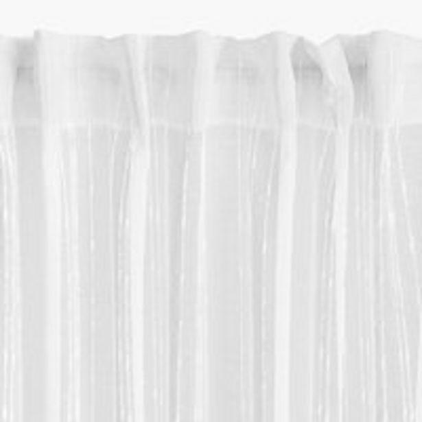 Oferta de Cortina SKORPA 1x140x300 blanco por 10€