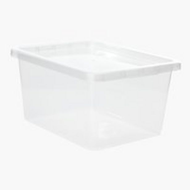 Oferta de Caja BASIC BOX 20L con tapa transparente por 6€
