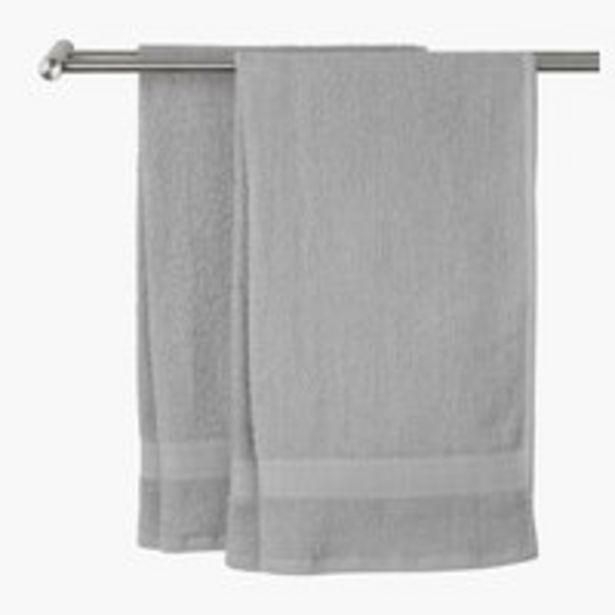 Oferta de Toalla lavabo UPPSALA 30x50 gris claro por 0,75€