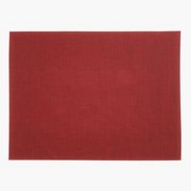 Oferta de Mantel individual VALLMO 33x42 rojo por 2€