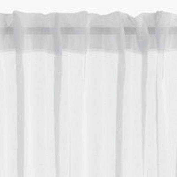 Oferta de Cortina BOLMEN 1x140x300 blanco crudo por 10€