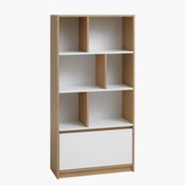 Oferta de Librería BILLUND blanco/roble por 149€