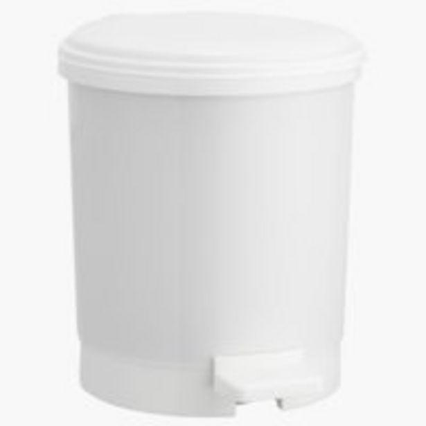 Oferta de Cubo con pedal UTBY 3L plástico blanco por 4€