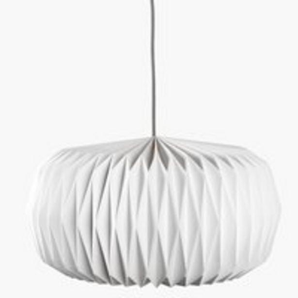 Oferta de Lámpara de techo VALDER Ø44xA25cm blanco por 19,99€