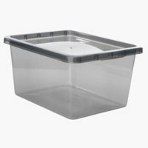 Oferta de Caja BASIC BOX 20L con tapa gris por 6€
