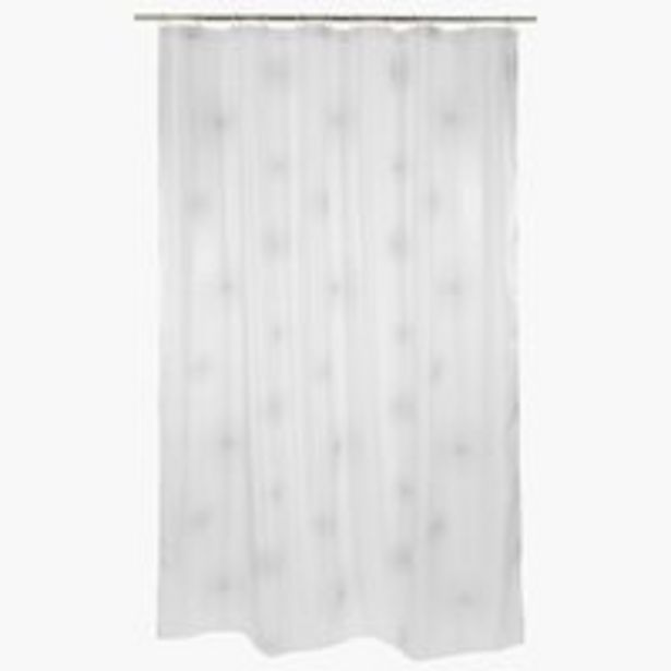 Oferta de Cortina ducha SVARTVIK 180x200 blanco por 7,5€