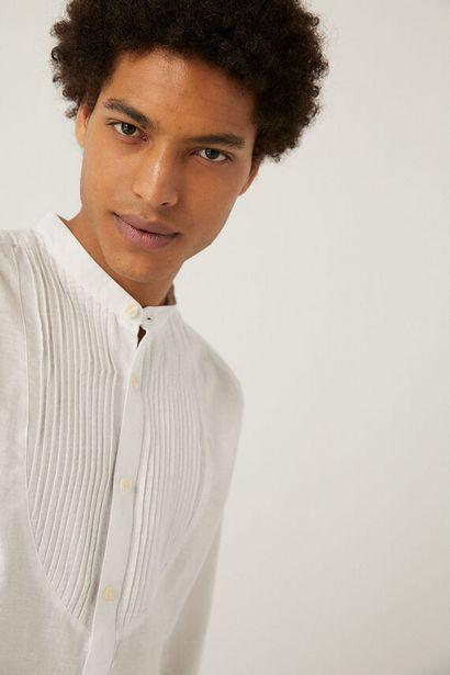 Oferta de Camisa lino jaretas por 9,99€
