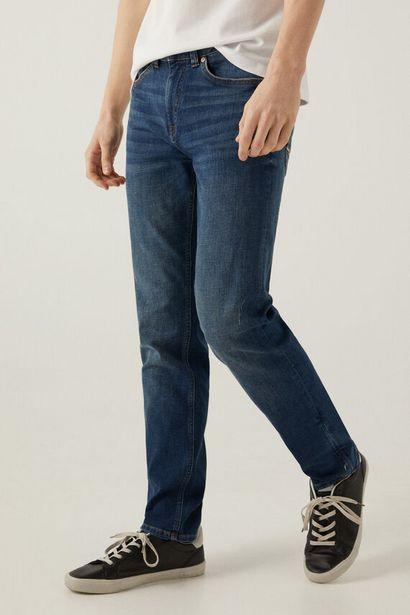Oferta de Jeans ligero slim lavado medio oscuro por 12,99€