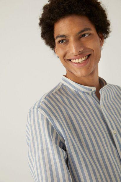 Oferta de Camisa lino rayas mao por 12,99€