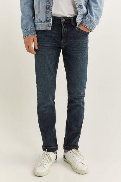 Oferta de Jeans slim lavado muy oscuro por 9,99€