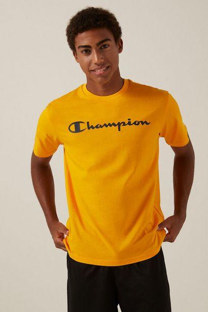 Oferta de Camiseta Champion logo negro por 16,1€