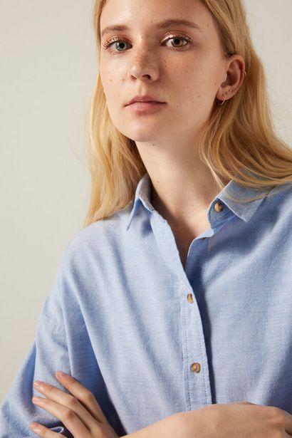 Oferta de Blusa oxford oversized algodón orgánico por 19,99€