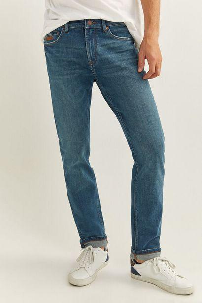 Oferta de Jeans slim lavado medio verdoso por 12,99€