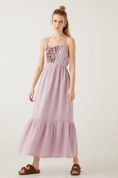 Oferta de Vestido largo bordados étnicos por 12,99€