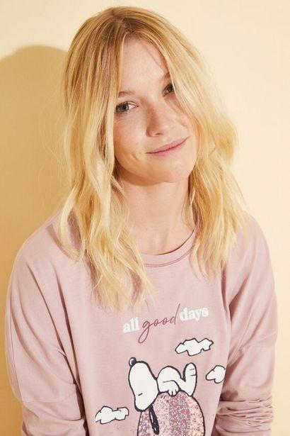 Oferta de Pijama largo algodón rosa Snoopy por 21,99€