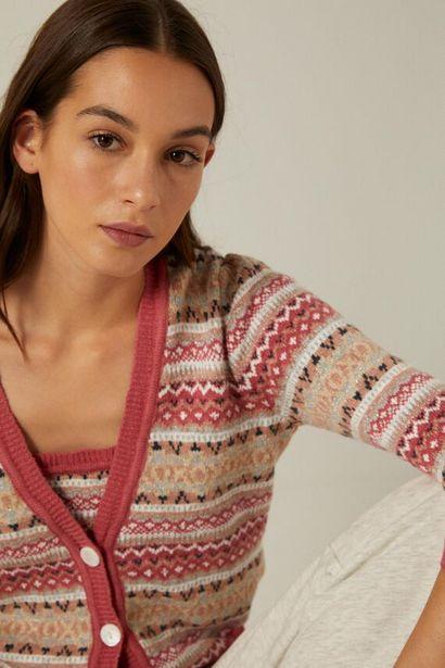 Oferta de Cardigan jacquard algodón orgánico por 19,99€