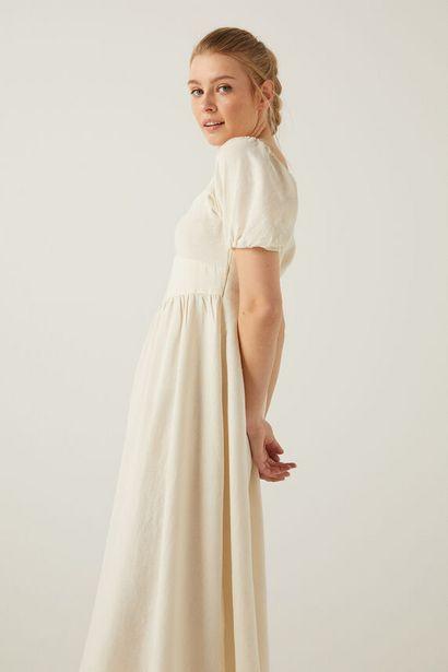 Oferta de Vestido midi lino sostenible por 19,99€