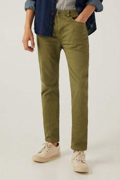 Oferta de Pantalón 5 bolsillos color skinny lavado por 12,99€