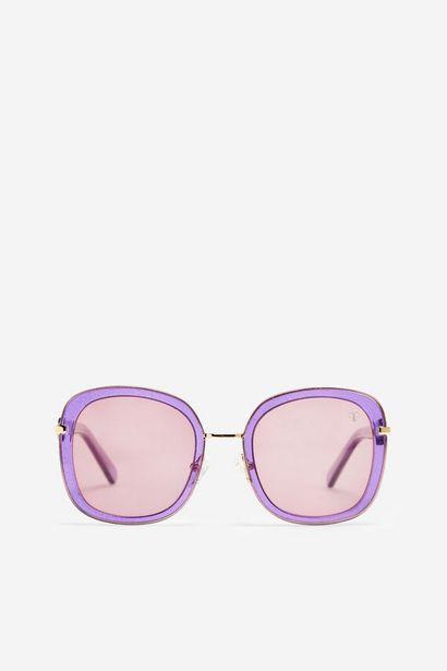 Oferta de Gafas de sol Glitter Valeria Mazza morado por 55,93€