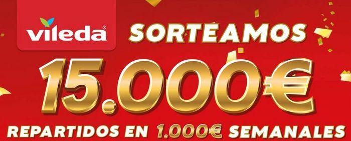 Oferta de Sorteamos 15.000€ repartidos en 1000€ semanales Vileda por