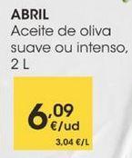 Oferta de Aceite de oliva suave ou intenso, 2L por 6,09€